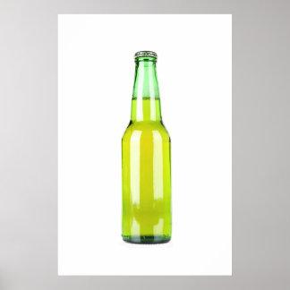 Green Beer Bottle Poster