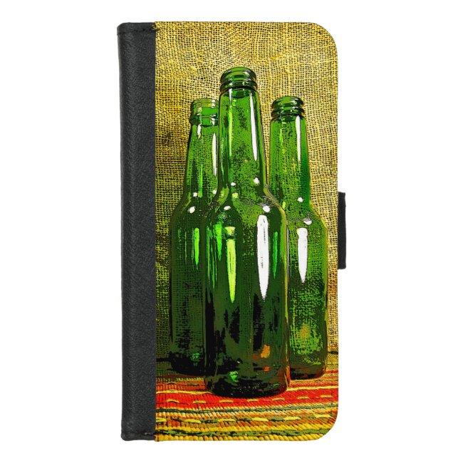 Green Beer Bottles iPhone 8/7 Wallet Case