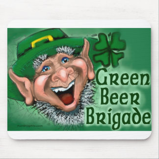 Green Beer Brigade Mouse Pad