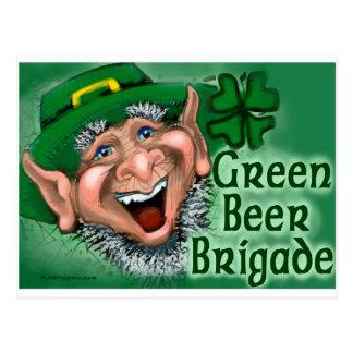 Green Beer Brigade Postcard