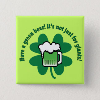 Green Beer Button