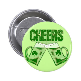 Green Beer Cheers 2 Inch Round Button