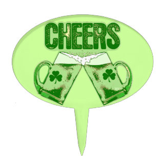 Green Beer Cheers Cake Toppers