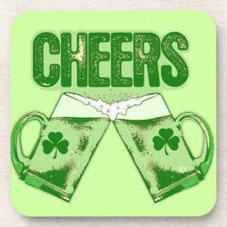 Green Beer Cheers Drink Coaster