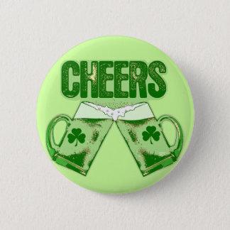 Green Beer Cheers Pinback Button