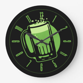 Green Beer Round Wall Clock