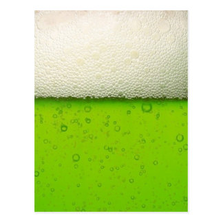 Green Beer Close-up Postcard