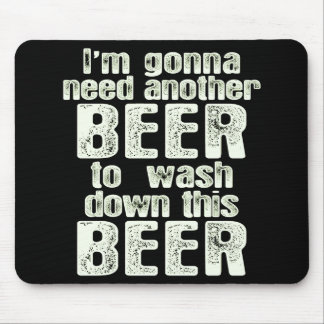Green Beer Day Humor Mouse Pad