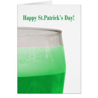 Green beer for St. Patrick's Day Card