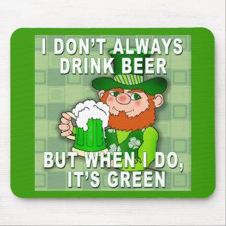 Green Beer for St Patricks Day Meme Humor Mouse Pad