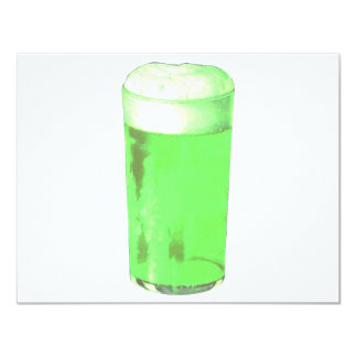 Green Beer Glass 4.25x5.5 Paper Invitation Card