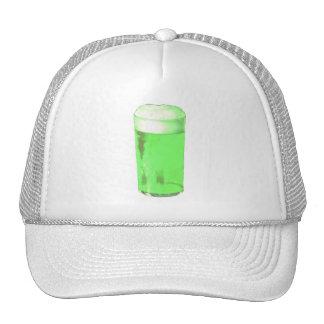 Green Beer Glass Trucker Hats