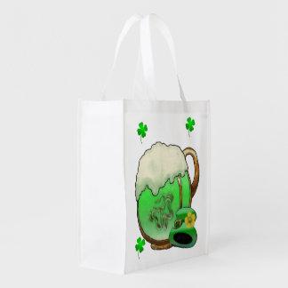 Green Beer Grocery Bag