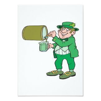 Green Beer 5x7 Paper Invitation Card