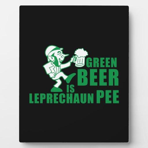 Green beer is leprechaum pee plaque
