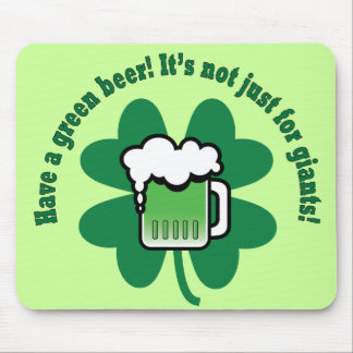 Green Beer Mouse Pad
