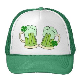 Green Beer Mug Toast Alpha Mesh Hats