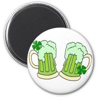 Green Beer Mug Toast Alpha Refrigerator Magnet