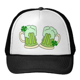 Green Beer Mugs Toast Hats