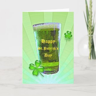 Green Beer St. Patrick's Day Card