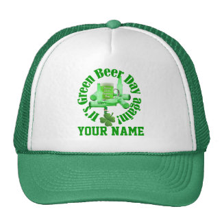 Green Beer St Patrick's day Hats