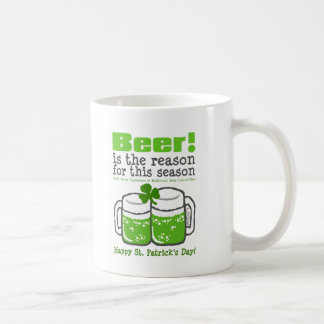 Green Beer, St. Patrick's Day Coffee Mugs