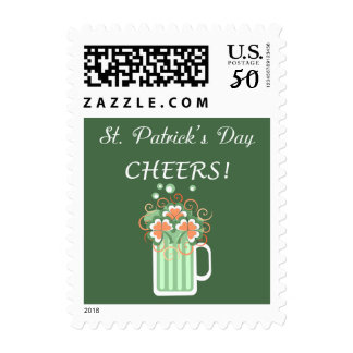 Green Beer St. Patrick's Day Postage
