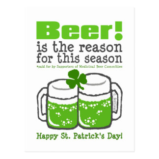 Green Beer, St. Patrick's Day Postcard
