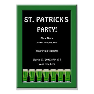 Green Beer St Patrick's Party Poster 2
