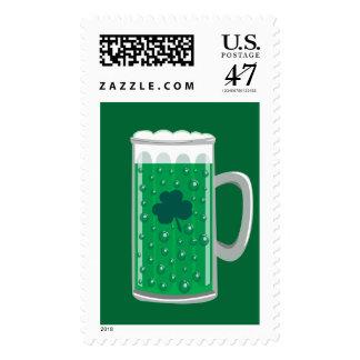 Green Beer Stamp