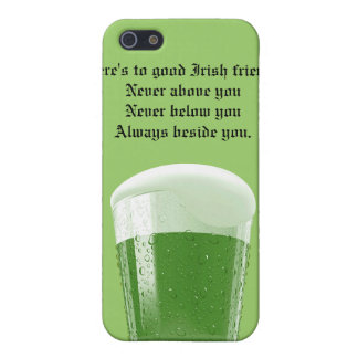 Green Beer/Toast to good Irish friends iPhone SE/5/5s Cover