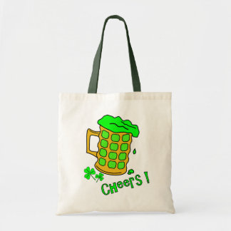Green Beer Tote Bag - St Pats Day Gifts