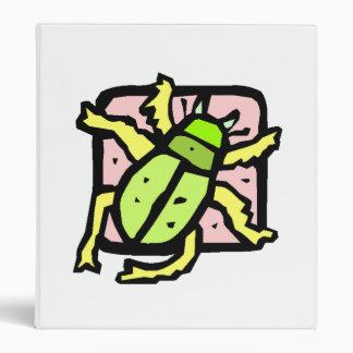 Green Beetle 3 Ring Binder