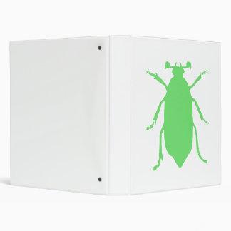 Green Beetle 3 Ring Binders