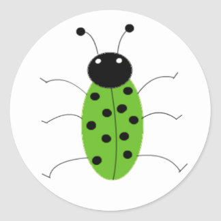 Green Beetle Classic Round Sticker