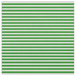 [ Thumbnail: Green & Beige Colored Lines Pattern Fabric ]