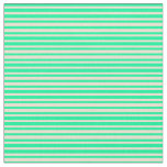 [ Thumbnail: Green & Beige Colored Stripes/Lines Pattern Fabric ]