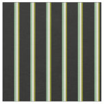 [ Thumbnail: Green, Beige, Dark Sea Green & Black Colored Fabric ]