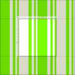 [ Thumbnail: Green & Beige Lines Pattern Fabric ]