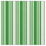 [ Thumbnail: Green & Beige Pattern Fabric ]