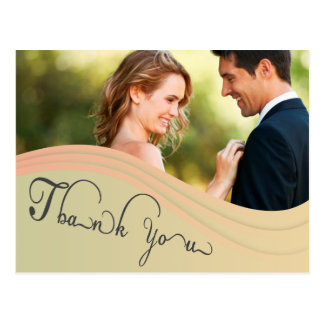 Green beige photo Thank You Card Post Card