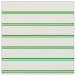 [ Thumbnail: Green & Beige Striped/Lined Pattern Fabric ]