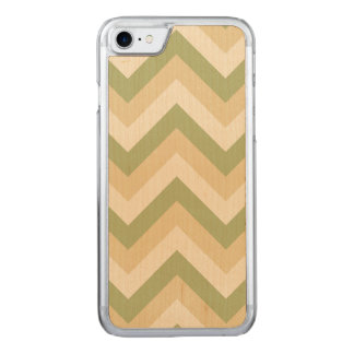 Green Beige Wedding Colors Modern Chevron Pattern Carved iPhone 8/7 Case