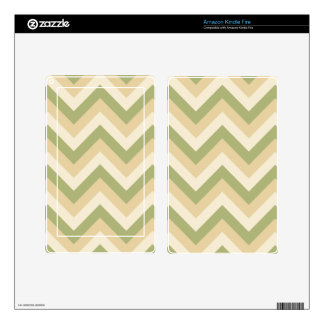 Green Beige Wedding Colors Modern Chevron Pattern Kindle Fire Skins