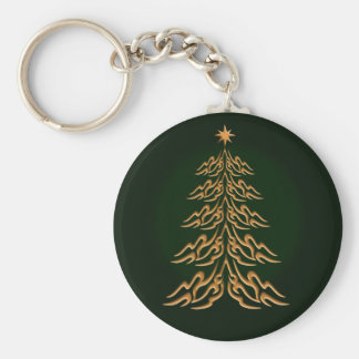 Green Bell Christmas Tree Key Chain