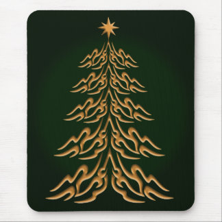 Green Bell  Christmas Tree Mouse Pad