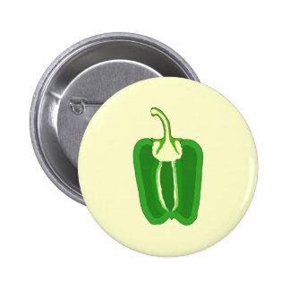 Green Bell Pepper. Halved. Button