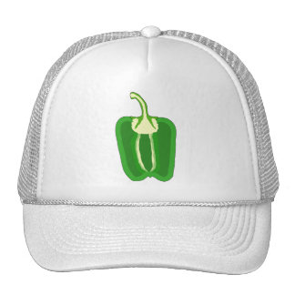 Green Bell Pepper. Halved. Trucker Hat