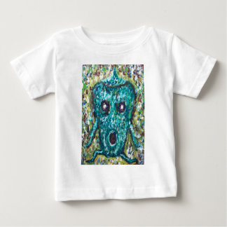 Green Bell Pepper running away from something Baby T-Shirt