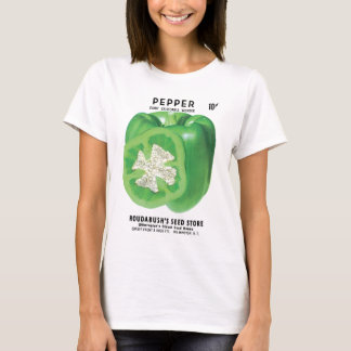 Green Bell Pepper Seed Packet T-Shirt